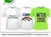 camisetas publicitarias al por mayor y menor