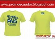 Camisetas publicitarias para campañas política y sin publicidad