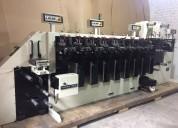 Vendo máquina flexografica webtron 750 hqv 8 colores