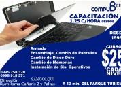 Cursos de reparación de portátiles y computadoras en rumiloma