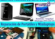 Servicio técnico de computadoras de escritorio y portátiles