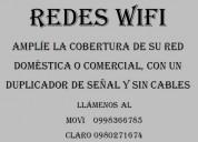 Aumente la cobertura de su wifi sin cables