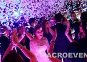 Alquiler de mÁquina de burbujas, confetti, pirotecnia fria  bodas/eventos