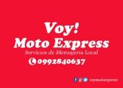 Voy moto express servicio de entrega de encomiendas