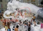 Maquina de espuma para carnaval alquiler