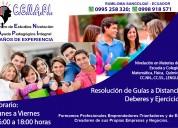 Ayuda pedagógica para estudiantes de escuela y colegio-sangolquí