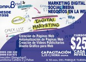 Cursos de capacitación de marketing digital y social media