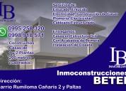 Servicio de reparación, construcción y venta de sus propiedades