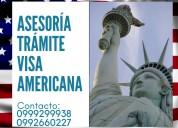 Asesoría trámite de visa americana