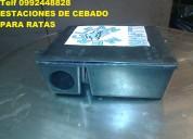 Telf 2428098 cajas o estaciones de cebado para ratas