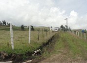 Vendo terreno en tabacundo de 5.100 m2