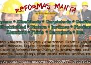 Reformas manta - reconstruimos y reformamos
