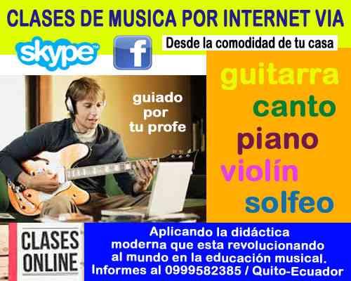 CLASES DE MUSICA POR INTERNET