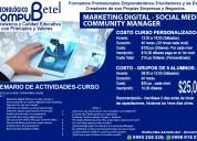 Cursos de marketing digital y social media en sangolquí