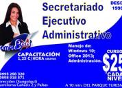 Cursos de secretariado ejecutivo-administrativo en sangolquí