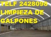 Telf 0996818473 limpieza general para galpones bodegas