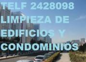 Telef 2428098 limpieza de edificios condominios y oficinas