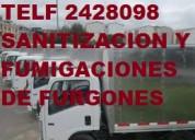 Tel 2428098 fumigacion sanitacion para furgones con certificado