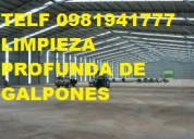 Telef 2428098 limpieza profunda de galpones industriales