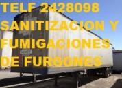 Telef 022428098 fumigacion sanitacion para furgones con certificado