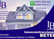 Servicios inmobiliarios y de construcción en rumiloma