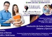 Ayuda pedagógica a estudiantes de escuela y colegio-sangolquí
