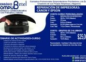 Ofrecemos servicio técnico de impresoras canon y epson-sangolquí