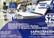 Curso de servicio técnico de mpresoras canon y epson