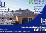 Servicios profesionales de construcción en sangolquí-rumiloma