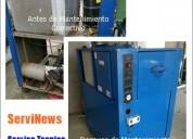 Chillers en ecuador, mantenimiento y reparación