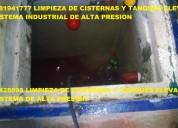 Limpieza de cisternas de agua limpia con maquinari