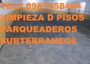 Telf 2428098 lavamos pisos de hormigon en parqueaderos