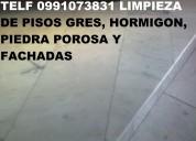 Telef 0991073831 lavamos pisos de hormigon y piedra