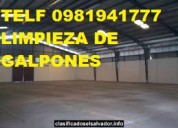 Telef 2428098 limpieza de galpones industriales bodegas