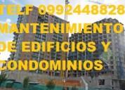 Telf 0992448828 mantenimiento general de edificios y condominios