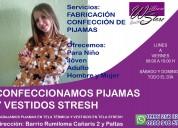 Confección de pijamas para niños y adultos en rumiloma-sangolquí