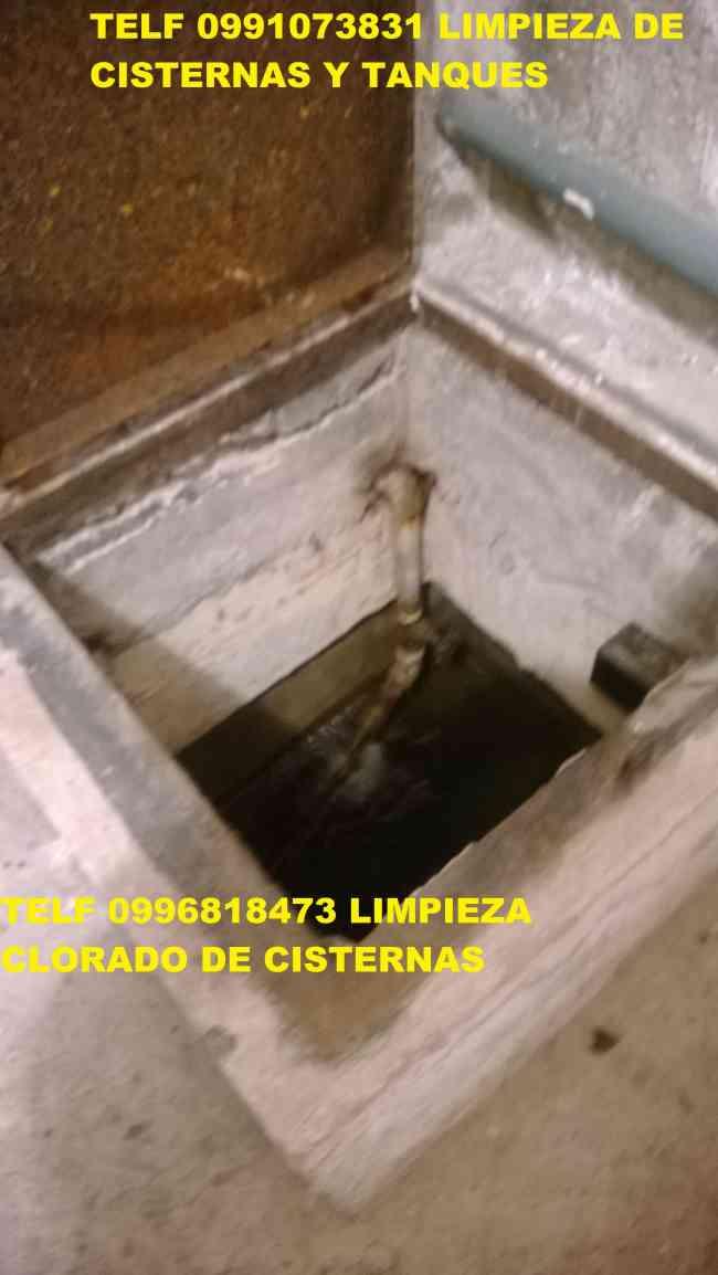 LIMPIEZA DE CISTERNAS TELEF 2428098 CON MAQUINARIA INDUSTRIAL