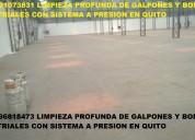 Telf 2428098 limpiamos bodegas galpones con mÁquinaria industrial