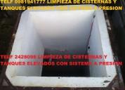 Su cisterna sucia llame 2428098 nosotros la limpiamos
