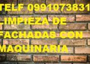 Telf 2428098 limpieza paredes de piedra porosa con hidrolavadora