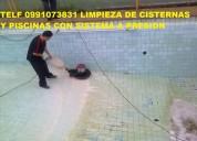 0991073831 llamenos limpieza de cisternas y tanques somos especialistas