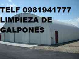 SERVICIO LIMPIEZA DE GALPONES INDUSTRIALE TELEF 2428098