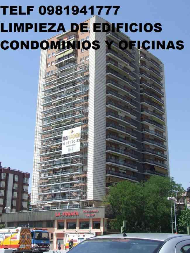 Telf 0981941777 LIMPIEZA Y MANTENIMIENTO DE CONDOMINIOS EN PUEMBO