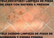 Telf 2428098 servicio limpieza de pisos de hormigon
