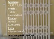 Se vende flamante reja acordeon para ventana