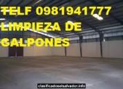 Telf 0981941777 limpieza de pisos de hormigon y piedra porosa