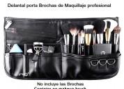 Bolso o mandil porta brochas de maquillaje profesional