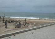 Vendo terreno esquinero en chanduy, junto al mar al pie del nuevo