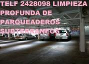 Limpieza de parqueaderos subterraneos telf 2428098