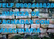 limpieza de fachadas de piedra telef 0987058464